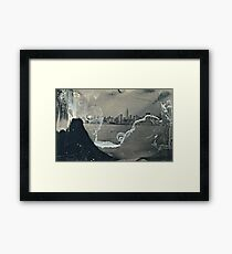 "NYC Skyline with ESB ""tintype"" photograph Framed Print"