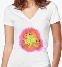 Homo(sapiens) Women's Fitted V-Neck T-Shirt