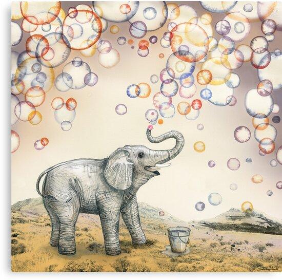 Elephant bubble dream by Ruta Dumalakaite