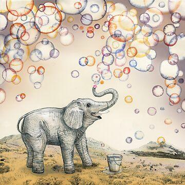 Elephant bubble dream by Ruta