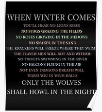 When winter comes... Poster