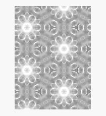 Black and white flowers pattern Photographic Print