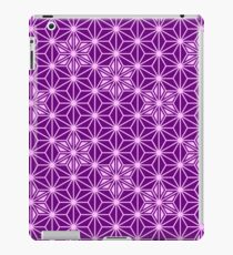 Japanese Asanoha pattern - amethyst purple iPad Case/Skin