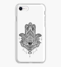 Hand drawn Hamsa Hand iPhone Case/Skin