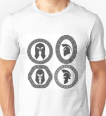 Set of Helmets Icons Isolated on White Background T-Shirt