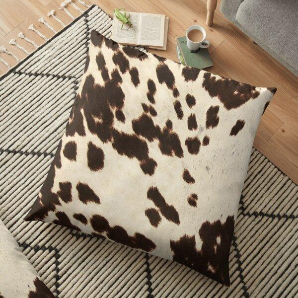 Brown Cowhide 2 Floor Pillow