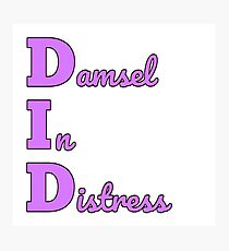 D.I.D. Damsel in distress Photographic Print