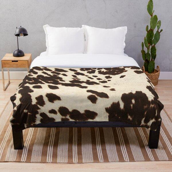 Brown Cowhide 2 Throw Blanket