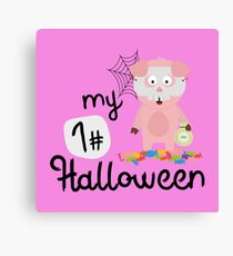 My First Halloween Horror Pig Rr5a3 Canvas Print