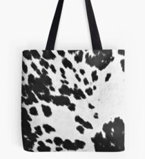 Cowhide Black and White 3 Tote Bag