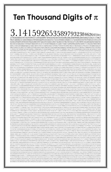 """""""Ten thousand digits of Pi"""" Posters by coolmathposters ..."""