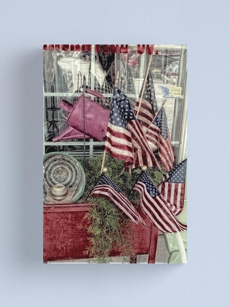 Alternate view of Patriotic Canvas Print