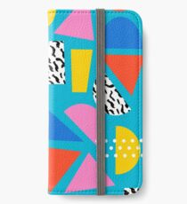 Airhead - memphis retro throwback minimal geometric colorful pattern 80s style 1980's iPhone Wallet/Case/Skin