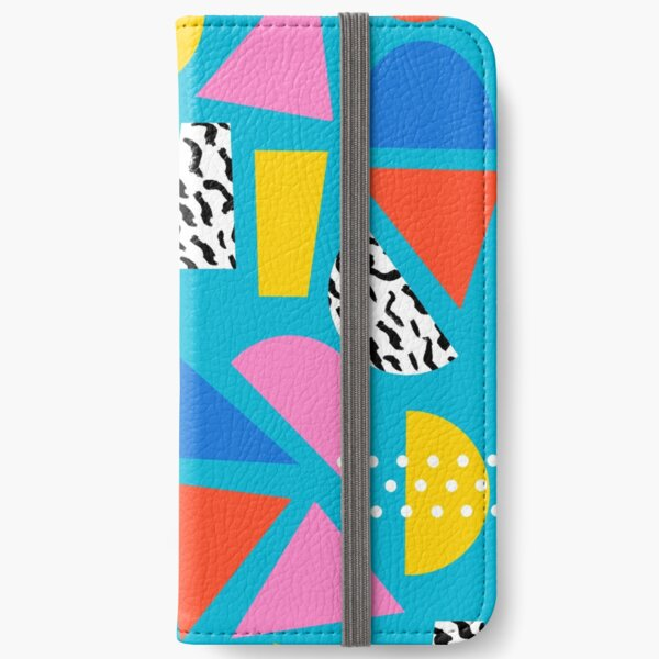 Airhead - memphis retro throwback minimal geometric colorful pattern 80s style 1980's iPhone Wallet