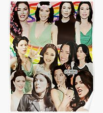 Jaime Murray Collage art Poster