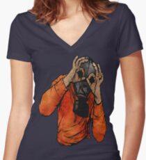 I See You Women's Fitted V-Neck T-Shirt