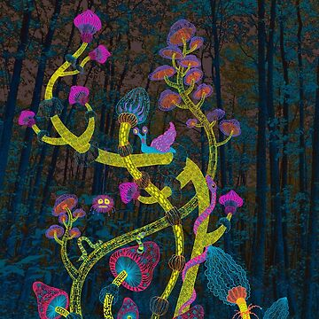 neon magic mushrooms by Ruta