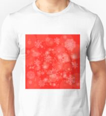 Abstract Winter Snow Background. Abstract Winter Pattern.  Snowflakes Background T-Shirt