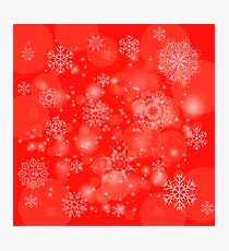 Abstract Winter Snow Background. Abstract Winter Pattern.  Snowflakes Background Photographic Print