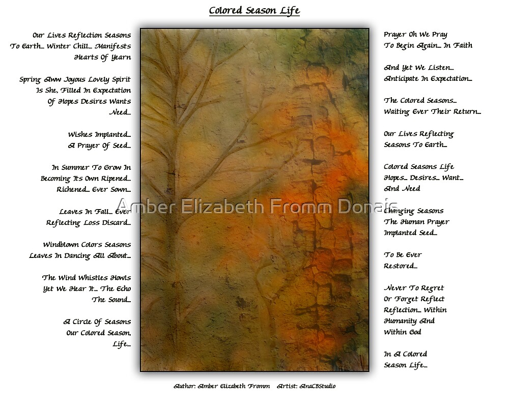 Colored Season Life  by Amber Elizabeth Fromm Donais