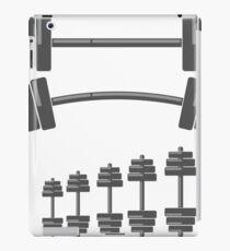 Set of Barbells Isolated on White Background iPad Case/Skin