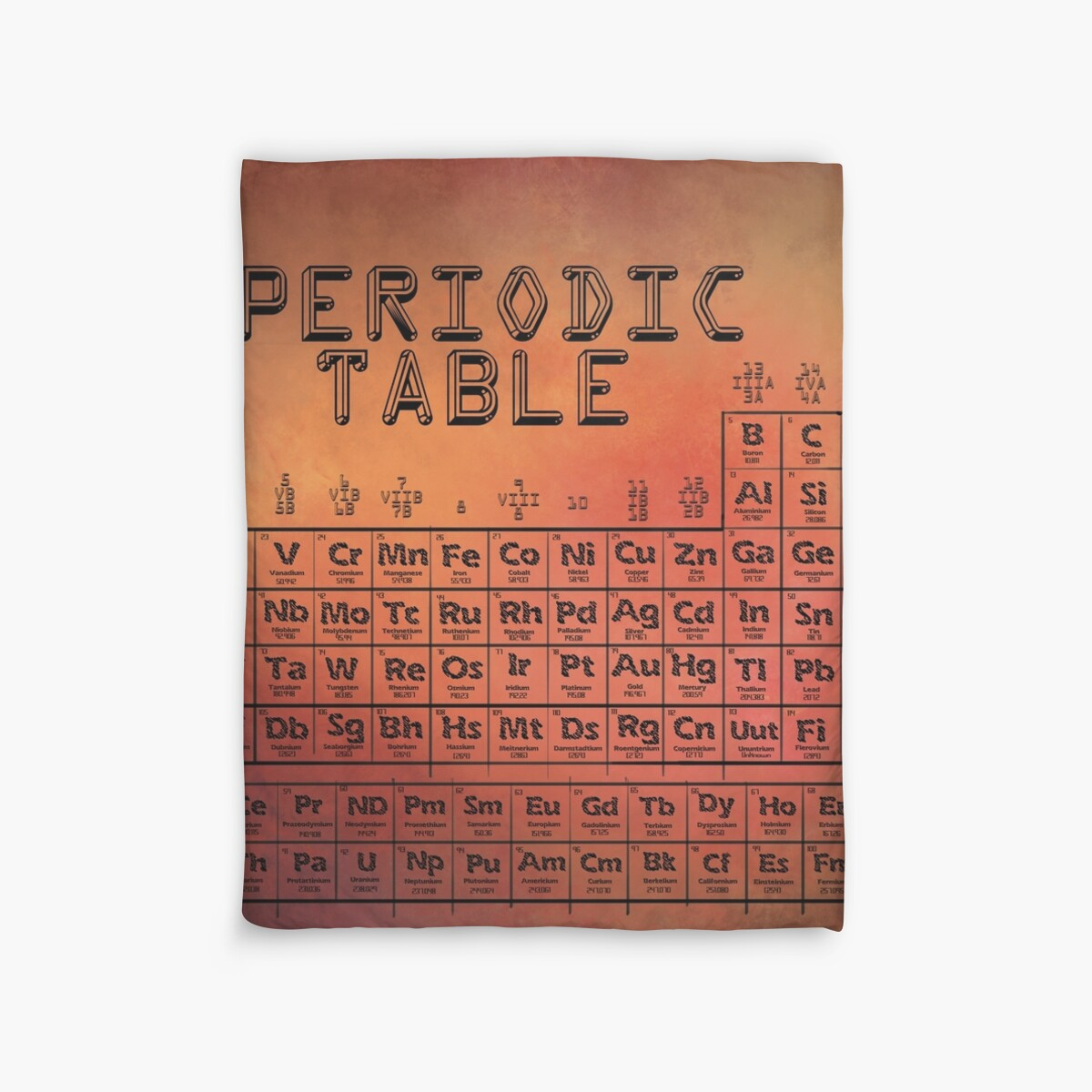 Periodic table duvet covers by magic frames redbubble periodic table by magic frames gamestrikefo Images