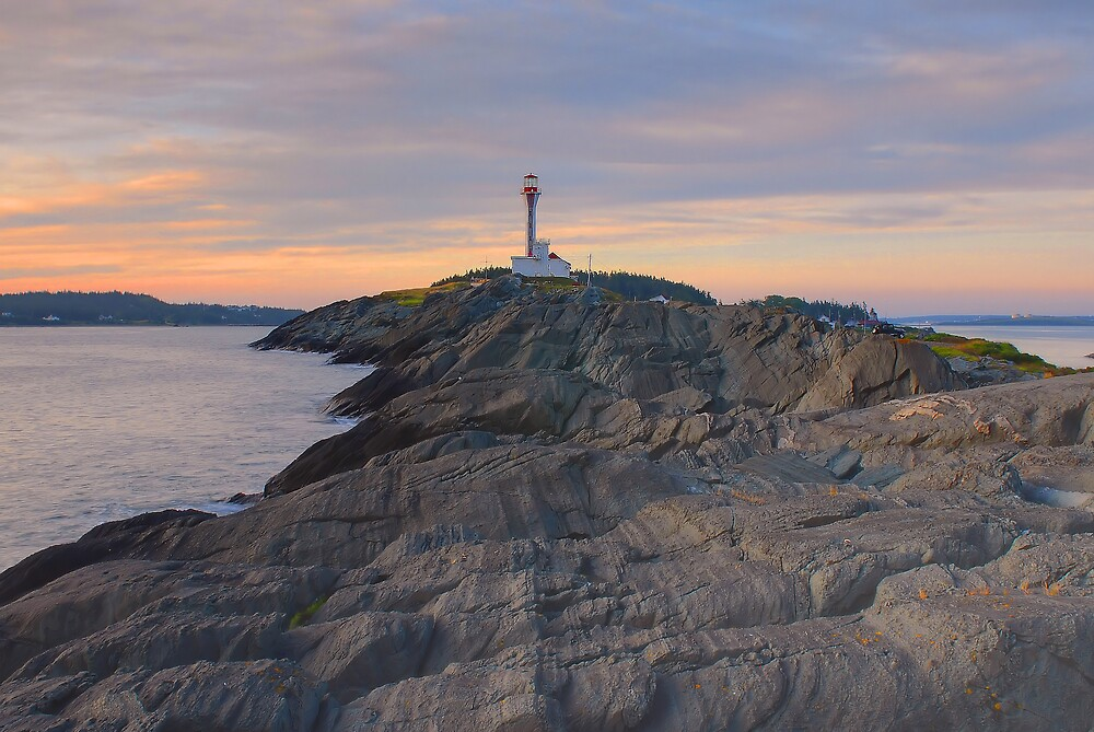 Cape Forchu Lighthouse - Nova Scotia, Canada by Howard Simpson