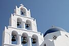Bells. Pyrgos, Santorini, Greece by Carole-Anne