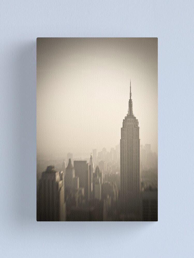 Alternate view of Empire State Building and Manhattan Skyline Canvas Print
