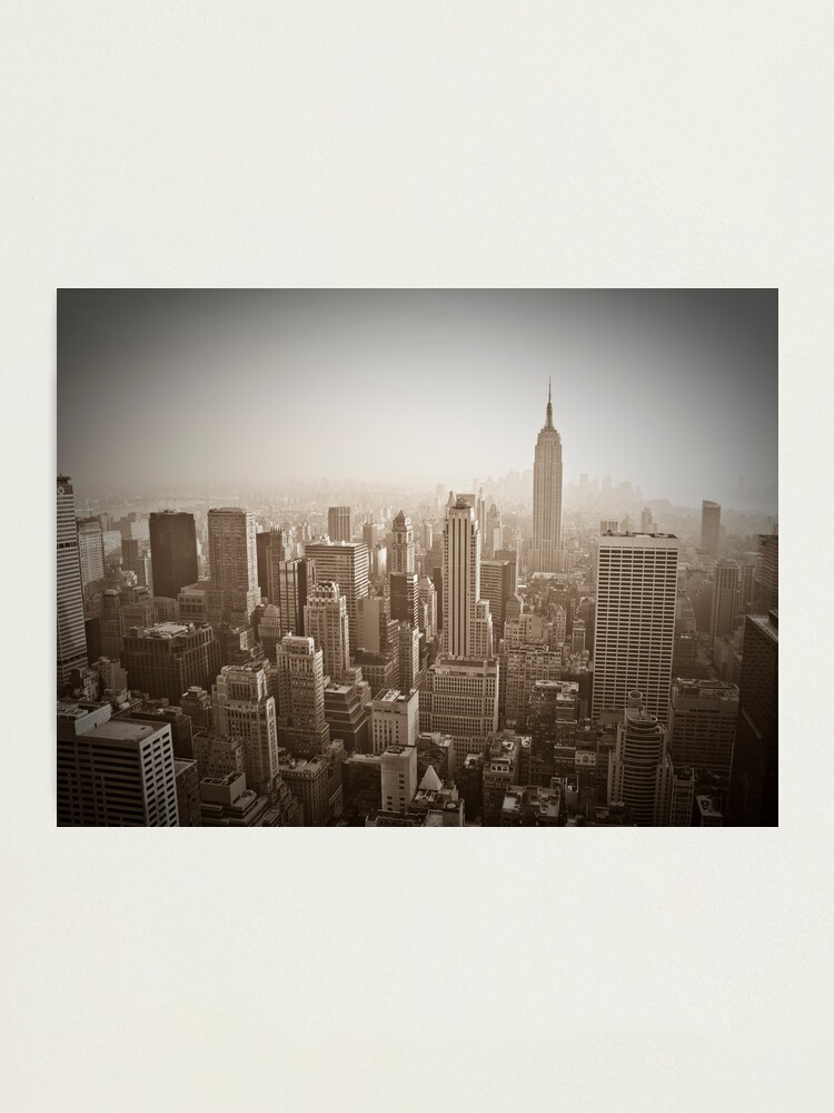 Alternate view of Empire State Building and Manhattan Skyline Photographic Print