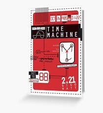 Time Machine Greeting Card