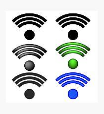 Set of Radio Icon Isolated on White Background Photographic Print