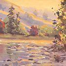 Smoky Morning Plein Air Painting by Karen Ilari