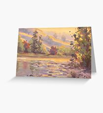 Smoky Morning Plein Air Painting Greeting Card