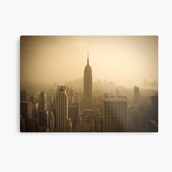 Empire State Building and Manhattan Skyline (Alan Copson ©) Metal Print