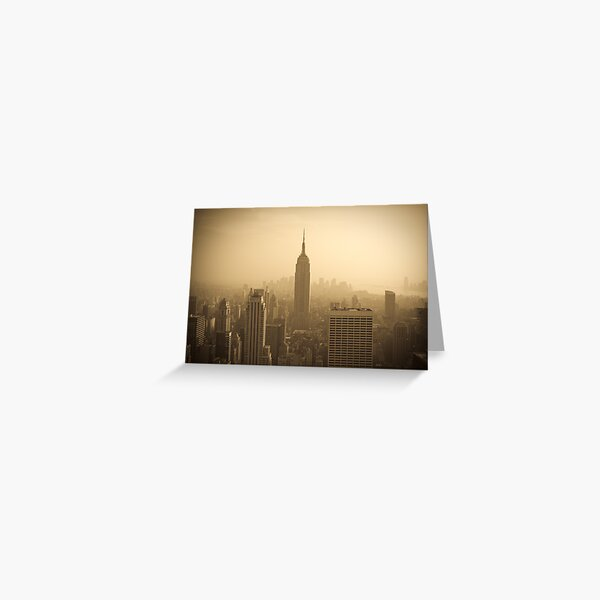 Empire State Building and Manhattan Skyline (Alan Copson ©) Greeting Card