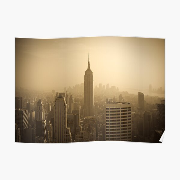 Empire State Building and Manhattan Skyline (Alan Copson ©) Poster
