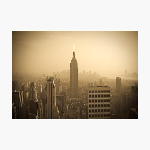 Empire State Building and Manhattan Skyline (Alan Copson ©) Photographic Print