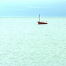 little red sail boat (as is) by SNAPPYDAVE