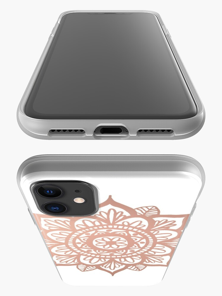 Vista alternativa de Funda y vinilo para iPhone Nuevo Mandala de oro rosa
