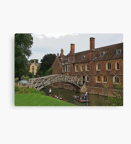 Mathematical Bridge, Cambridge Canvas Print