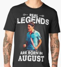 Camiseta premium para hombre Roger Federer August Legend Tshirt