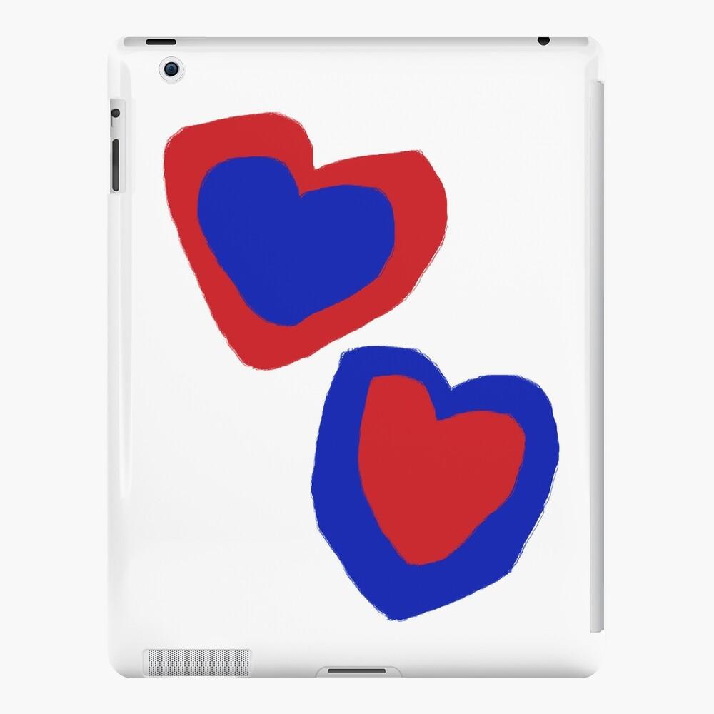 I Love My Life blue heart RedHeartT-Shirt  iPad Case & Skin