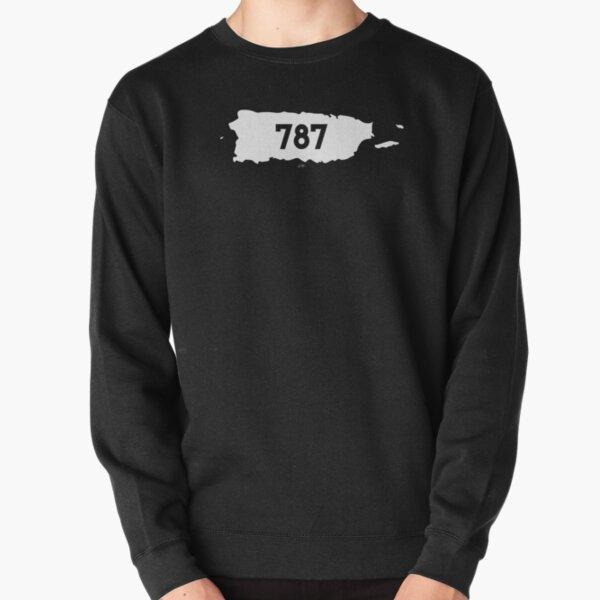 Puerto Rico Map Area Code 787 Pullover Sweatshirt