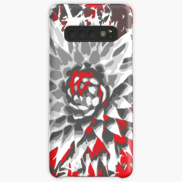 Thistle in red, gray and white Samsung Galaxy Snap Case