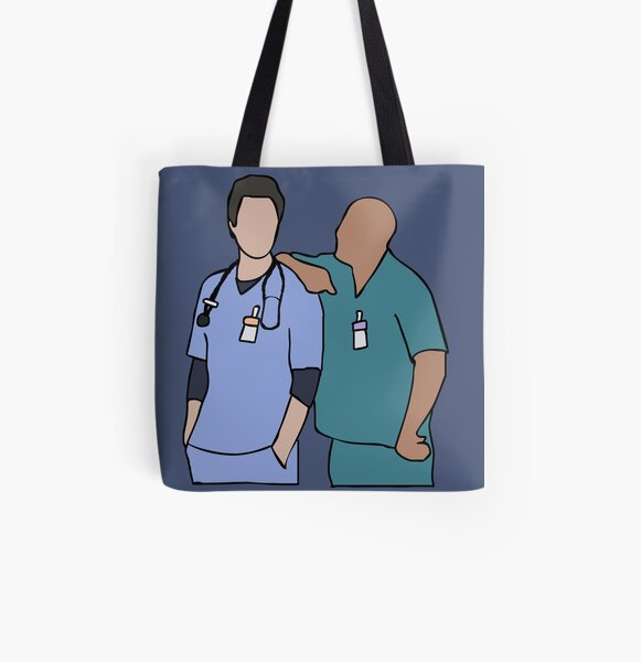 Scrubs Sacred Heart Hospital American Comedy TV Show JD Turk Unofficial Cotton Tote Bag Shopper