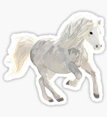 White Horse Design Sticker