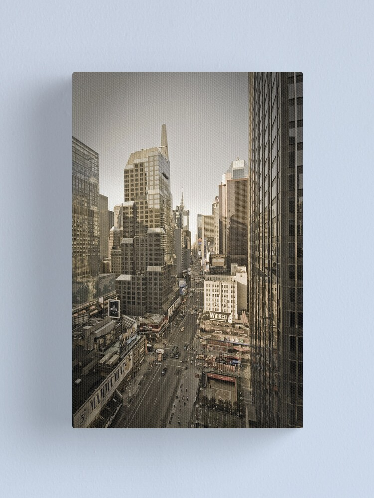 Alternate view of Broadway looking towards Times Square - Manhattan  Canvas Print