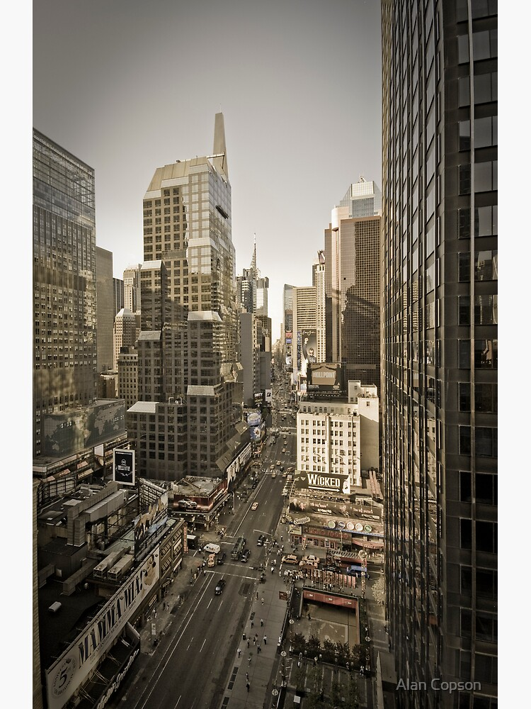 Broadway looking towards Times Square - Manhattan  by AlanCopson