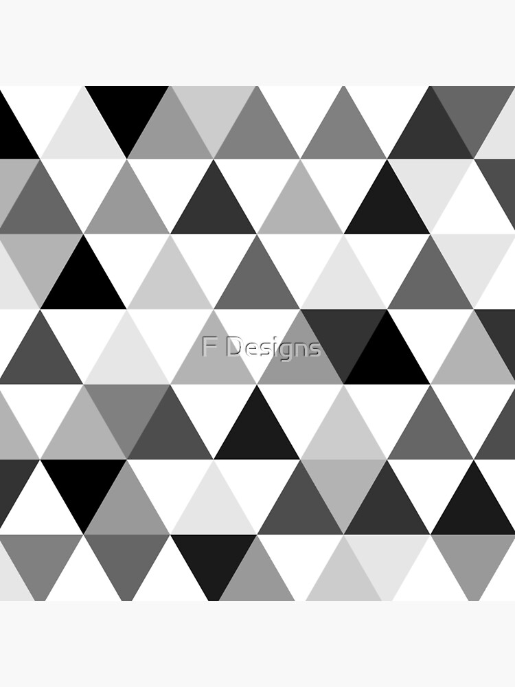 Triangles in black, grey and white by flaviocoelho